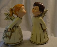 """Kissing Angels Music Box Plays """"Lara's Theme"""" from Dr. Zhivago Hand Made in My Japan by DJsVintageCache on Etsy"""