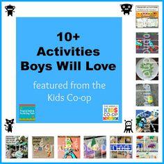 10 + Activities the Boys Will Love