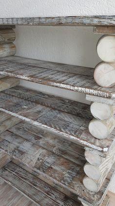 Schuhschränke - kleines Schuhregal gekalkt, aus Palettenholz - ein Designerstück von Bernd310 bei DaWanda