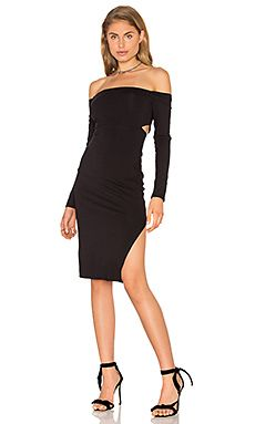 7f81efcc80d0 twenty Off Shoulder Bodycon Dress in Black 1920s Inspired Dresses