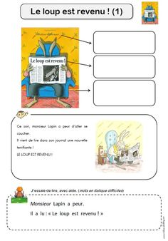le loup est revenu fiche lecture 1 France, Album, Projects To Try, Education, Storytelling, Index Cards, Projects, Bag, Onderwijs