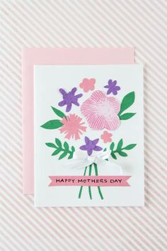 Tutorial | Mother's Day Card with Flowers – Scrap Booking