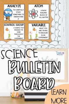 Bulletin board | Classroom decor | Get your classroom back to school ready using these science bulletin board posters. These science vocabulary terms can be used as a word wall to get your grade 4 5 6 kids to speak like a scientist on the first days of school. Science posters include basic science vocabulary terms students need to know to complete lab activities and general science comprehension. Posters will make gorgeous bulletin board or classroom vocabulary word walls. Science Bulletin Boards, Back To School Bulletin Boards, Classroom Bulletin Boards, Classroom Ideas, Earth Science Activities, Teaching Science, Teaching Kids, Science Vocabulary, Science Words