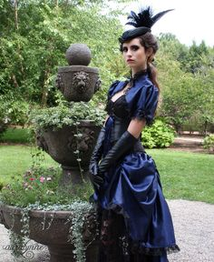 Lady Adventuress  Steampunk Black Leather wedding by auralynne.  I must confess I don't know much about steampunk, but this is stunning!