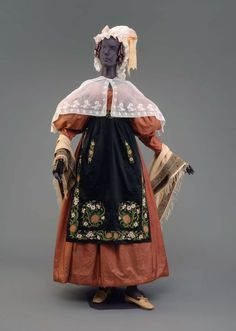 1830's women's america cotton dresses - Google Search