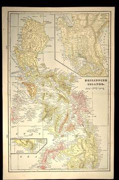 Philippines Map Philippines Philippine Islands Antique