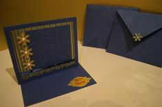 Postal de Natal - Azul e dourado