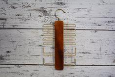 Vintage Wood Tie Hanger Rack Wood And Metal Use for Belts Scarves &…