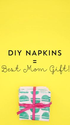 Learn how to make a set of DIY napkins with this Mother's Day video tutorial.