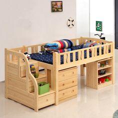 Mobili per bambini – Recycled Furnitures Ideas Kids Bed Furniture, Baby Furniture Sets, Girls Bedroom Furniture, Bedroom Bed Design, Recycled Furniture, Toddler Bunk Beds, Diy Toddler Bed, Childrens Bunk Beds, Toddler Rooms