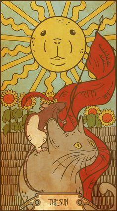 Muroidea Rat Tarot- The Sun Art Print