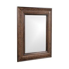 Howard Elliott Collection Grant Antique Brown 2-Inch Rectangle Mirror ($300) ❤ liked on Polyvore featuring home, home decor, mirrors, howard elliott mirror, howard elliott, brown mirror, rectangle mirror and rectangular mirror