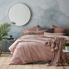 Zara Velvet Quilt Cover Set in Violet Rose