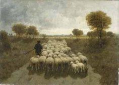 Anton Mauve - Herder met schapen