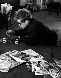 James Dean photographed by Dennis Stock || 1955