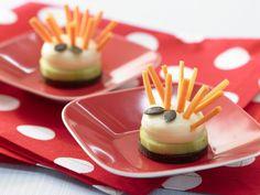 Käseigel mit Möhrenstiften | Kalorien: 115 Kcal - Zeit: 15 Min. | http://eatsmarter.de/rezepte/kaeseigel