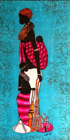 African Drawings, African Art Paintings, Black Women Art, Black Art, Worli Painting, African Quilts, Africa Art, African Artists, Guache