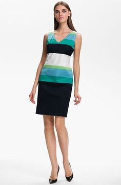 St. John Collection Stripe Sateen Dress available at #Nordstrom