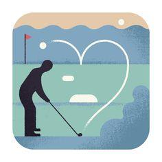 Aron Vellekoop León | Illustration - Wall Street Journal - Golf