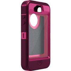 Otterbox Defender Series for iPhone 4 & 4S - Retail Packaging - Peony Pink/Deep Plum:Amazon:Cell Phones & Accessories