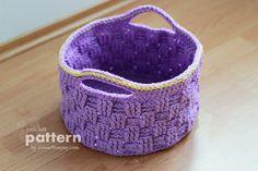 crochet box pattern - disegno cesto all'uncinetto