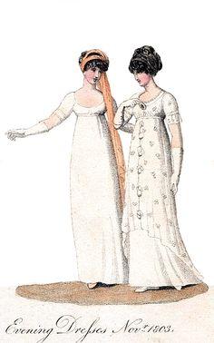 Evening Dresses, November 1803.
