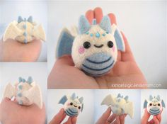 Felted Ice Queen Dragon by xxNostalgic on Etsy, $32.00