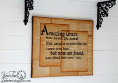 Amazing Grace Repurposed Book Page Canvas Scripture Wall Art - KnickofTime.net