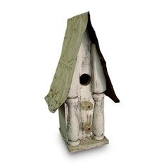 Find it at the Foundary - Chic White Architectural Birdhouse