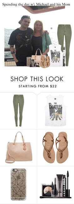 """Apending the day with Michael and his mom"" by music-lover1d ❤ liked on Polyvore featuring River Island, Wet Seal, MICHAEL Michael Kors, Havaianas, Casetify, LORAC, 5sos, michaelclifford and 5secondsofsummer"