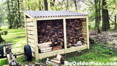 DIY Firewood Storage Shed   MyOutdoorPlans   Free Woodworking Plans and Projects, DIY Shed, Wooden Playhouse, Pergola, Bbq