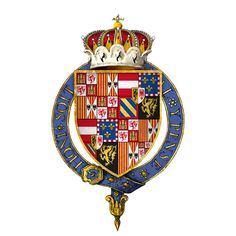 Coat of arms of Charles V, Archduke of Austria, Duke of Burgundy - Charles V, Holy Roman Emperor - Arms of Charles, Emperor of the Spains, Archduke of Austria, Duke of Burgundy, KG at the time of his installation as a knight of the Most Noble Order of the Garter - Wikipedia, the free encyclopedia