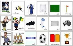 Learning about football and the vocabulary for the basic of football English lesson English Vocabulary Words, Learn English Words, English Grammar, English Language, Vocabulary Exercises, Improve Vocabulary, Vocabulary Worksheets, Listening English, Teaching English