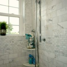 cottage tiled showers | ... tiles shower surround white beadboard bertch bathroom cabinet with