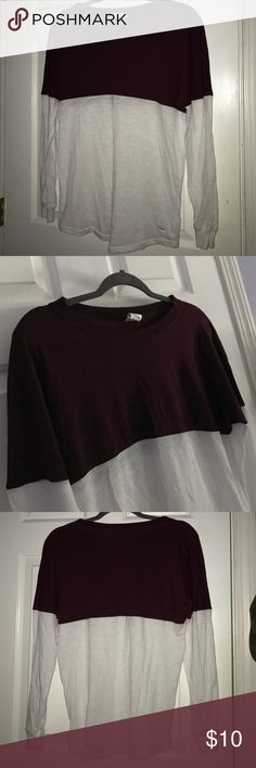 PINK Victoria's Secret Long Sleeve Spirit Jersey Maroon/burgundy color. no writing on the back. size xs but fits big. no holes snags rips or stains. comes from a smoke free home! PINK Victoria's Secret Tops Tees - Long Sleeve