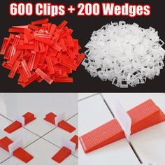 600 Clips + 200 Wedges Floor Wall Spacers Tiling Tool-800 Tile Leveling System Tiling Tools, Tile Leveling System, Tiles, Walmart, Wedges, Flooring, Wall, Diy, Room Tiles