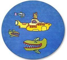 Yellow submarine rug