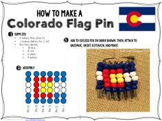 Pg 11 Mosaic flag? Booking Across the USA: Colorado State Flag Pin