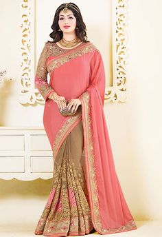 Fashionable Pink Color #Bollywood #Saree