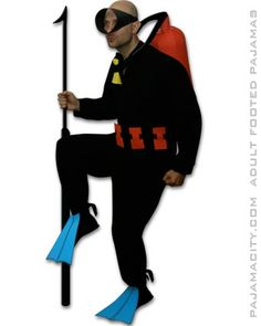 How to make a Homemade Adult Scuba Diver Costume