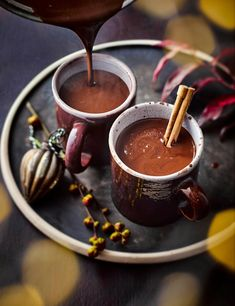 Mulled hot chocolate Red Wine Hot Chocolate Recipe Use up your left over red wine to jazz up your hot chocolate over the festive season. This quick and easy mulled hot chocolate is the perfect way to warm up during the wintery months Red Wine Hot Chocolate Recipe, Chocolate Chocolate, Yummy Drinks, Yummy Food, Italian Hot, Bon Dessert, Christmas Drinks, Clean Eating Snacks, Recipe Using