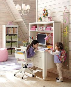I can't wait until my kids are big enough to do homework at a desk. How fun!