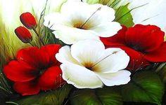pintura aoleo florais - Pesquisa Google: