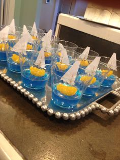 Made for nautical baby shower - saw on Pinterest and they were great for kiddos!