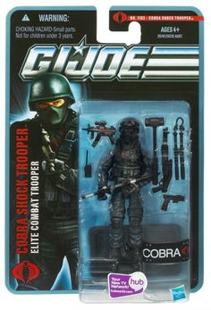 "Cobra Shock Trooper 3 3/4"" GI JOE action figure by Hasbro from the Pursuit of Cobra series.  Very Hard to find figure!"