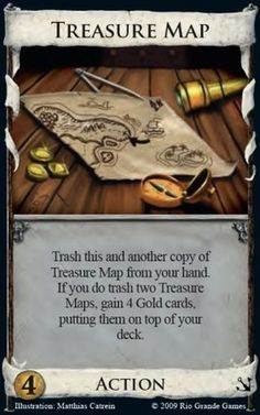 Dominion Combo: Watchtower, Talisman, Treasure Map - play as early in the game as possible