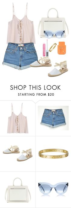 """""""Untitled #68"""" by classy-vouge ❤ liked on Polyvore featuring Soludos, Cartier, Victoria Beckham and LORAC"""