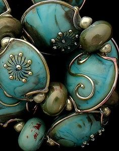 DSG Lampwork Beads Organic Handmade Glass Pools of Siloam. Working on a great design for these