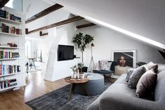 Small attic living room