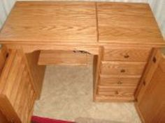 Amish Furniture Classic Sewing Machine Cabinet   Sewing Cabinets   Amish  Handcrafted Products   Home Goods